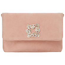 Buy Dune Bree Jewelled Brooch Suede Clutch Bag Online at johnlewis.com