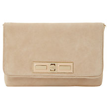 Buy Dune Elodie Suede Clutch Bag, Nude Online at johnlewis.com