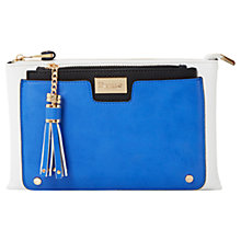 Buy Dune Electra Zip Clutch Bag, Blue Online at johnlewis.com