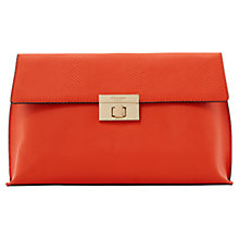 Buy Dune Elexus Clutch Bag, Orange Online at johnlewis.com