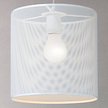 Buy House by John Lewis Perforated Pendant Shade, Grey Online at johnlewis.com