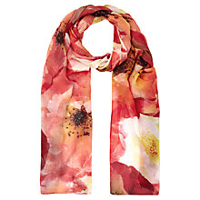 Buy Kaliko Poppy Print Scarf, Multi Orange Online at johnlewis.com