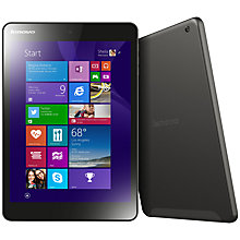 "Buy Lenovo Miix 3 8 Tablet, Intel Atom, Windows 8.1 & Microsoft Office 365, 7.85"", Wi-Fi, 32GB, Black Online at johnlewis.com"