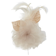 Buy John Lewis Feathered Dahlia Corsage, Mink Online at johnlewis.com