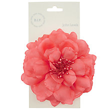Buy John Lewis Open Peony Flower Corsage, Coral Online at johnlewis.com