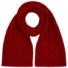 Buy John Lewis Bubble Lattice Scarf, Red Online at johnlewis.com