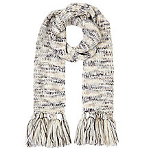 Buy John Lewis Melange Scarf, Natural Online at johnlewis.com