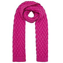 Buy John Lewis Zig Zag Pattern Scarf Online at johnlewis.com
