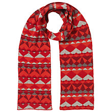 Buy John Lewis Geometric Fairisle Scarf, Red Online at johnlewis.com