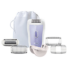 Buy Philips HP6523/03 SatinSoft Wet and Dry Epilator, Lilac / White Online at johnlewis.com