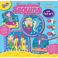 Buy Galt Sensational Sequins Mermaid & Dolphins Foil Art Online at johnlewis.com