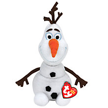 Buy Ty Disney Frozen Olaf Beanie Soft Toy, Large Online at johnlewis.com