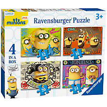 Buy Ravensburger Minions Movie Jigsaw Puzzles, 4 in a Box Online at johnlewis.com
