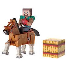 Buy Minecraft Steve & Chestnut Horse Action Figures Online at johnlewis.com