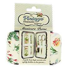 Buy The Vintage Cosmetic Company Floral Manicure Purse Online at johnlewis.com