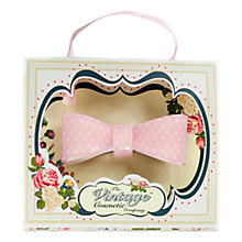 Buy The Vintage Cosmetic Company Pink Star Print Vintage 3D Bow Hair Clip Online at johnlewis.com