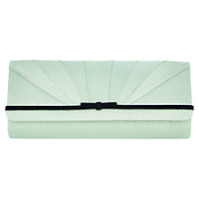 Buy Jacques Vert Pleat Bow Clutch Bag, Light Green Online at johnlewis.com