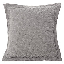 Buy Lexington Quilted Linen Sham Cushion, Grey Online at johnlewis.com