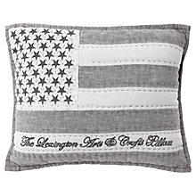 Buy Lexington Linen Sham Cushion, Grey Online at johnlewis.com