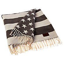 Buy Lexington Icons Flag Throw, Grey Online at johnlewis.com