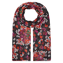 Buy Hobbs Hydrangea Scarf, Black Online at johnlewis.com