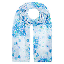 Buy Hobbs Hydrangea Scarf, Blue Online at johnlewis.com
