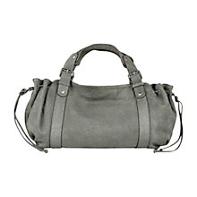 Buy Gerard Darel 24 Heures Zipped Leather Grab Bag, Grey Online at johnlewis.com