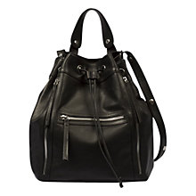 Buy Gerard Darel Seau Rebelle Bucket Bag, Black Online at johnlewis.com