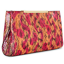 Buy Jaeger Marylebone Leather Snake Clutch Bag Online at johnlewis.com