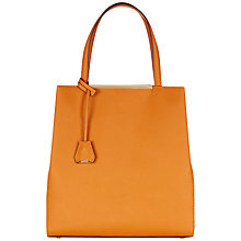 Buy Jaeger Marylebone Tall Tote Bag, Orange Online at johnlewis.com