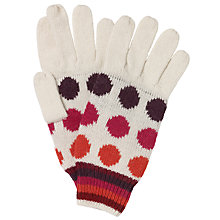 Buy John Lewis Stripey Spot Gloves, Multi Online at johnlewis.com