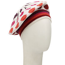 Buy John Lewis Stripey Spot Beret Hat, Multi Online at johnlewis.com