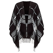Buy John Lewis Mono Check Scarf, Black/Grey Online at johnlewis.com