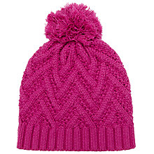 Buy John Lewis Zig Zag Pattern Pom Beanie Hat Online at johnlewis.com