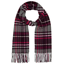 Buy John Lewis Cashmink Check Scarf, Pink Online at johnlewis.com