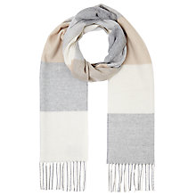 Buy John Lewis Cashmink Square Check Scarf, Natural Online at johnlewis.com