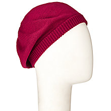 Buy John Lewis Plain Knit Beret Hat Online at johnlewis.com