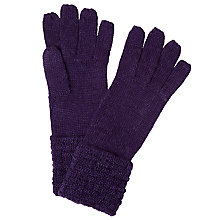 Buy John Lewis Checkerboard Cuff Gloves, One Size Online at johnlewis.com