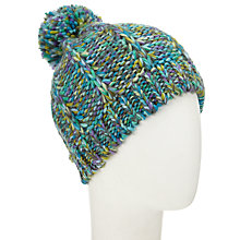 Buy John Lewis Chunky Lux Pom Beanie Hat, Multi Online at johnlewis.com