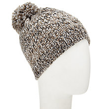 Buy John Lewis Wool Blend Pom Pom Beanie Hat, Natural Online at johnlewis.com