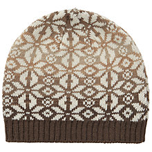 Buy John Lewis Ombre Snowflake Beanie Hat, Toast Online at johnlewis.com