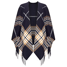 Buy John Lewis Check Cape, Navy Online at johnlewis.com