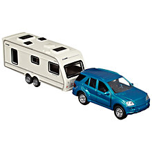 Buy John Lewis Car and Caravan Set, Blue/White Online at johnlewis.com