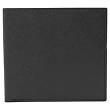 Buy Reiss Gillis Leather Foldover Wallet, Black Online at johnlewis.com