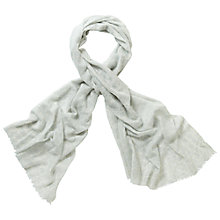 Buy Pure Collection Giraffe Printed Scarf, Soft Blue Online at johnlewis.com