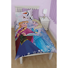 Buy Disney's Frozen Elsa & Anna Single Duvet Cover and Pillowcase Set Online at johnlewis.com