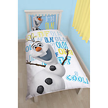 Buy Disney's Frozen Olaf Reversible Single Duvet Cover and Pillowcase Set Online at johnlewis.com