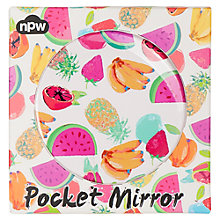 Buy NPW Fruit Print Compact Mirror Online at johnlewis.com