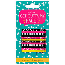Buy Happy Jackson Get Outta My Face Hair Grips, Pack of 12 Online at johnlewis.com