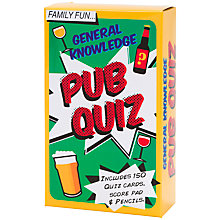 Buy Talking Tables General Knowledge Pub Quiz Online at johnlewis.com